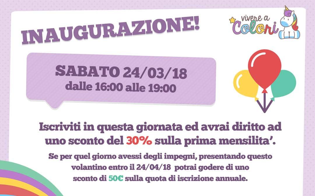 Inaugurazione del nuovo Asilo Nido Vivere a Colori – Morena (Roma)